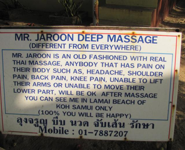 Mr. Jaroon's unique positioning. Was most tempted to try it out!