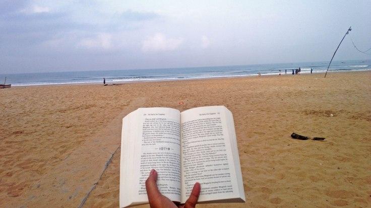 010 Reading in Peace (Baga, Goa, India)